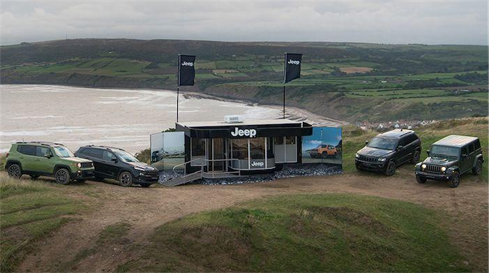 Jeep e la sua concessionaria itinerante