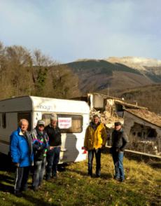 Camping Club Recanati due caravan e il terremoto