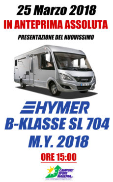 Hymer B 704 SL il 25 marzo anteprima assoluta