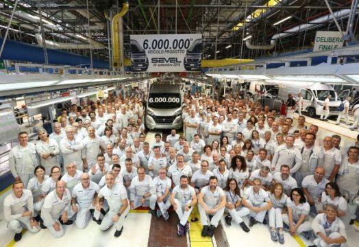 Sei milioni di veicoli a Sevel lo stabilimento di Fiat Ducato