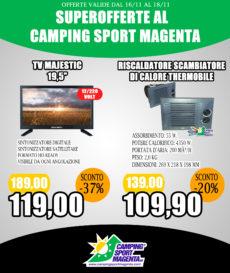 Camping Sport Magenta mega-offerte fino a Domenica