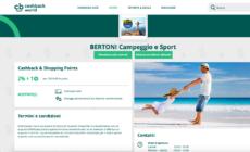 Bertoni Campeggio Sport convenzionato CashBack
