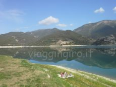 Lago del Turano in camper