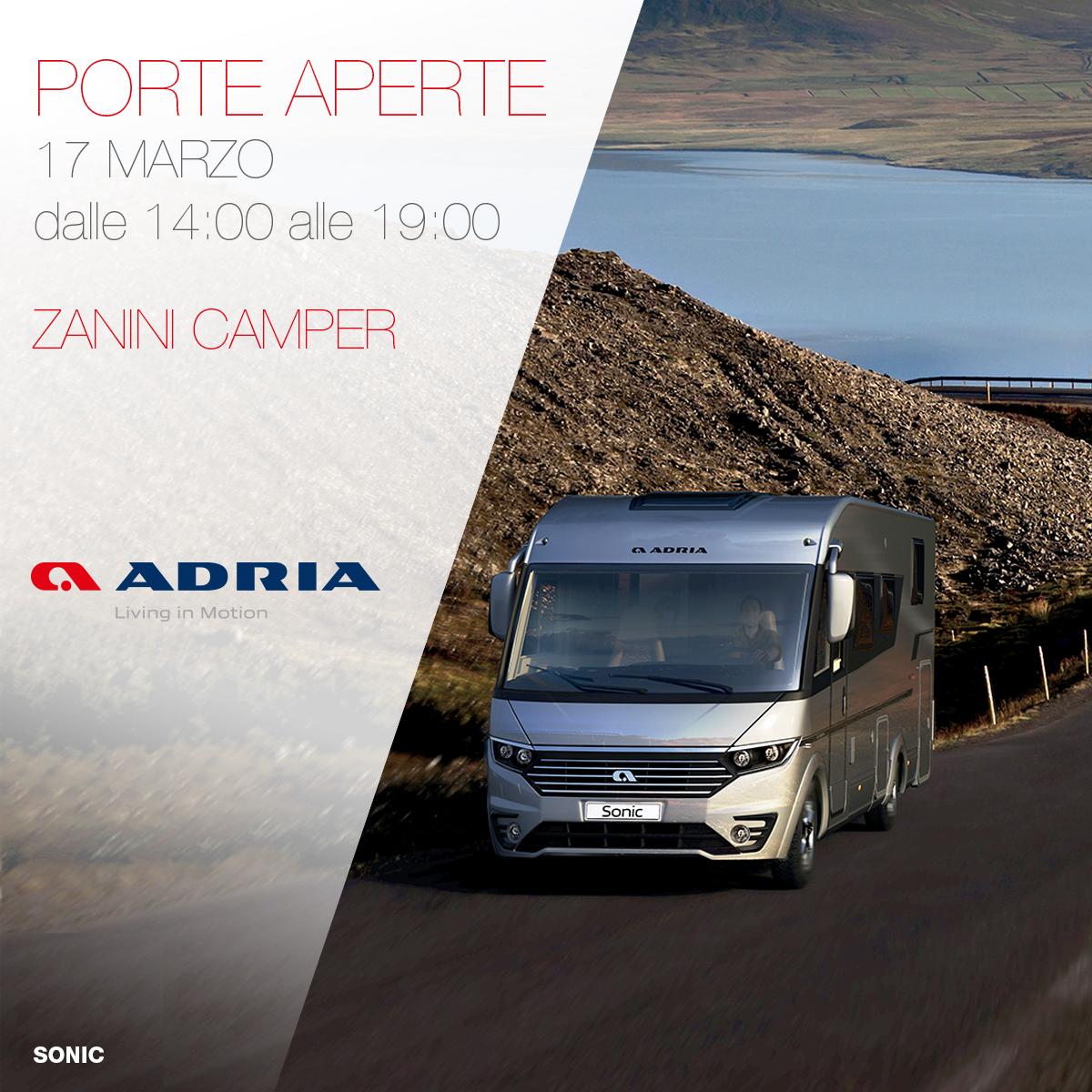 Zanini Camper Porte Aperte Domenica 17 Marzo