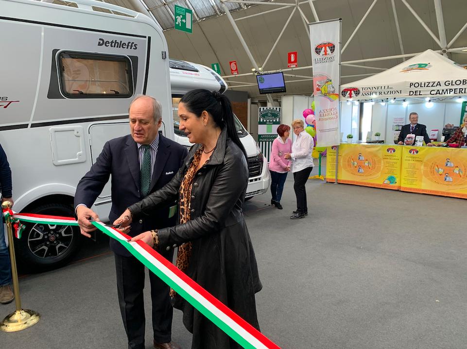 Lara Magoni Assessore al Turismo Regione Lombardia inaugura Italia Vacanze 2019