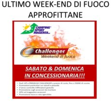Challenger ultimo week end di fuoco da Camping Sport Magenta