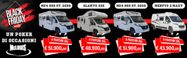 Black Friday speciale McLouis da Camping Sport Magenta
