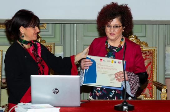 Marzia Mazzoni di Vacanzelandia premiata in Università
