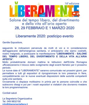 Liberamente 2020 a Bologna rinviata
