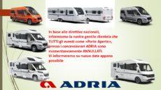 Adria Italia annulla i Porte Aperte
