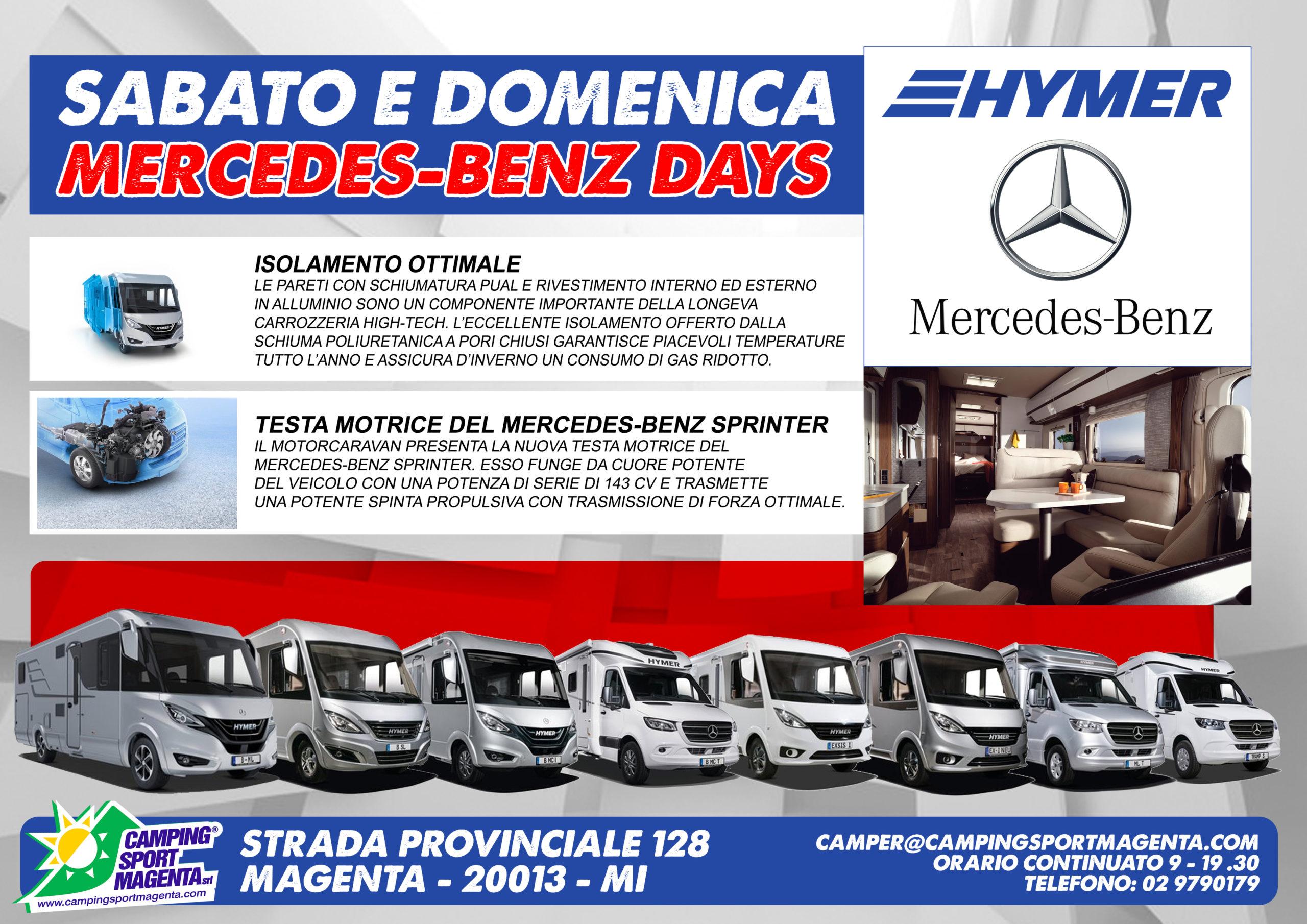 Camping Sport Magenta speciale Hymer e Mercedes