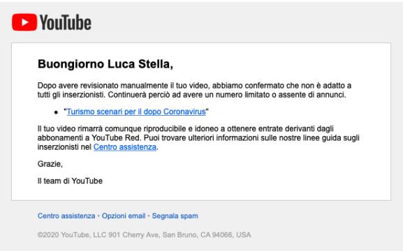 errore clamoroso di YouTube