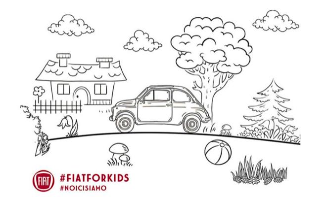 #fiatforkids Fiat lancia il libro da colorare della 500