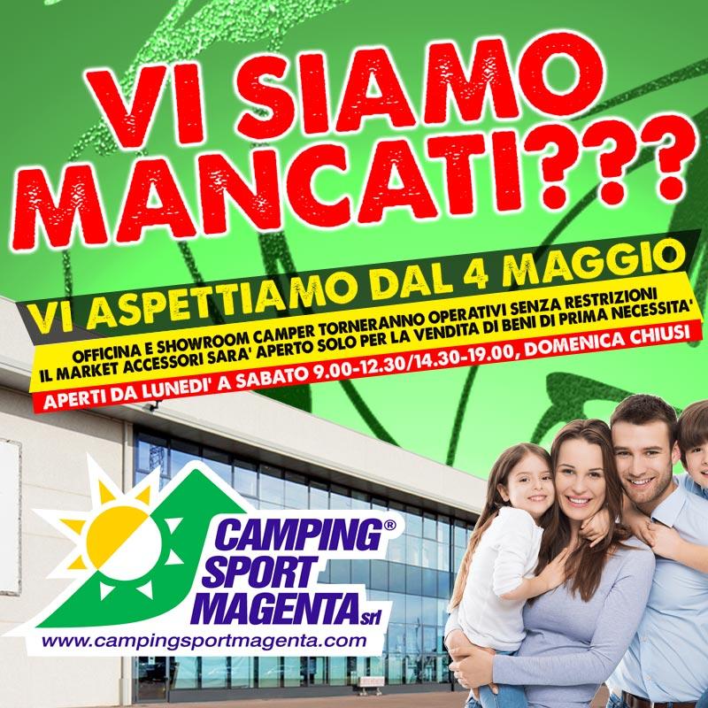 Camping Sport Magenta riapre