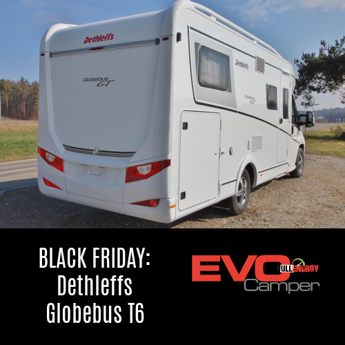 Dethleffs Globebus T6 Black Friday da EVO Camper