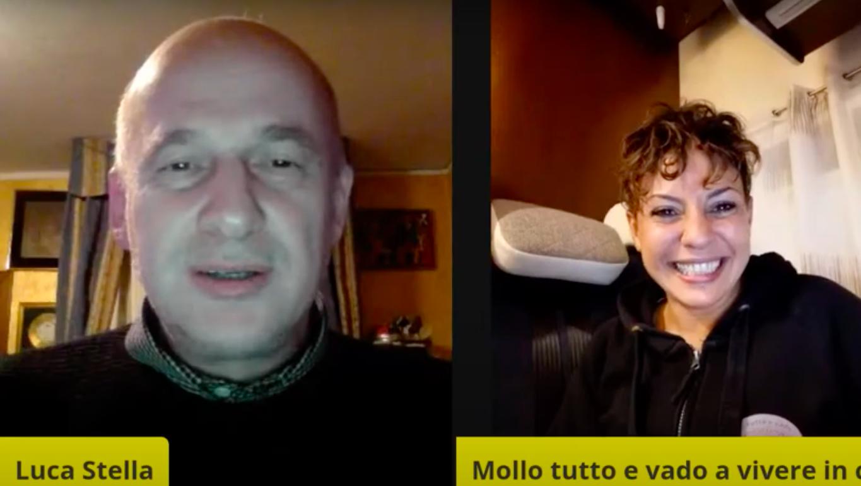 """Daniela De Girolamo di Mollo tutto e vado a vivere in camper a """"dopo il TG"""" del 3 Novembre"""